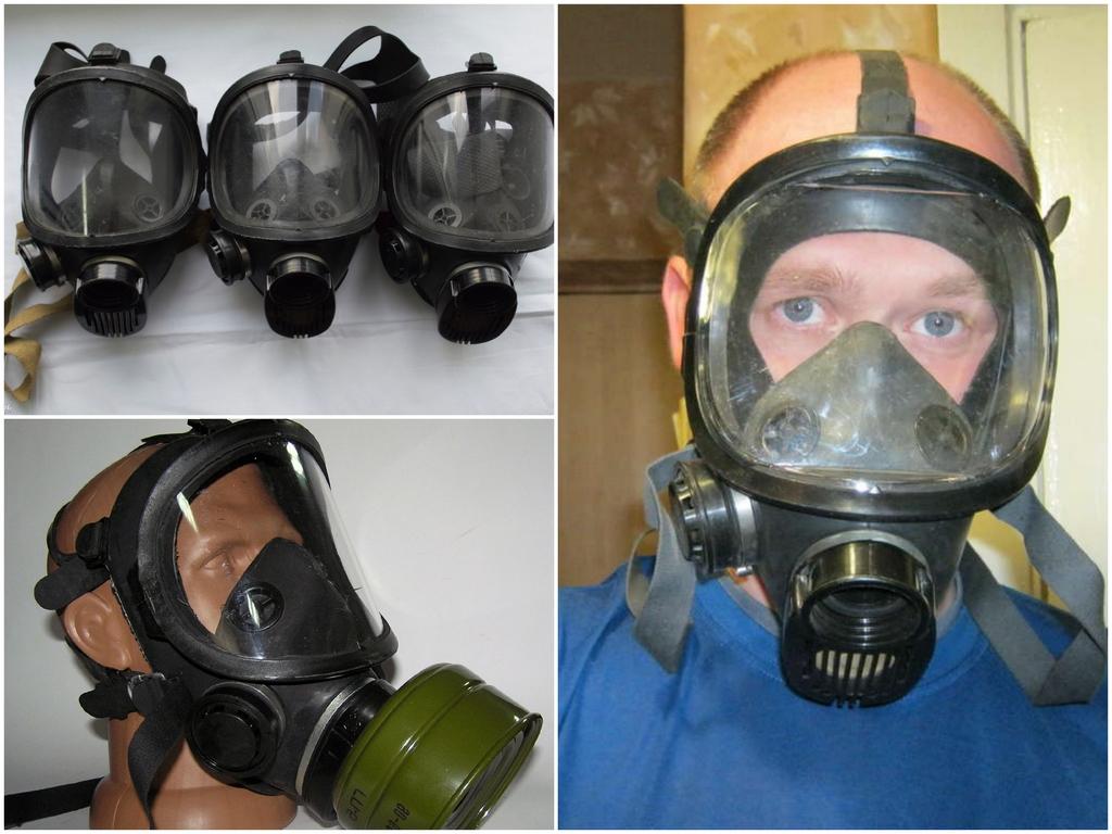 Основные разновидности масок для противогазов