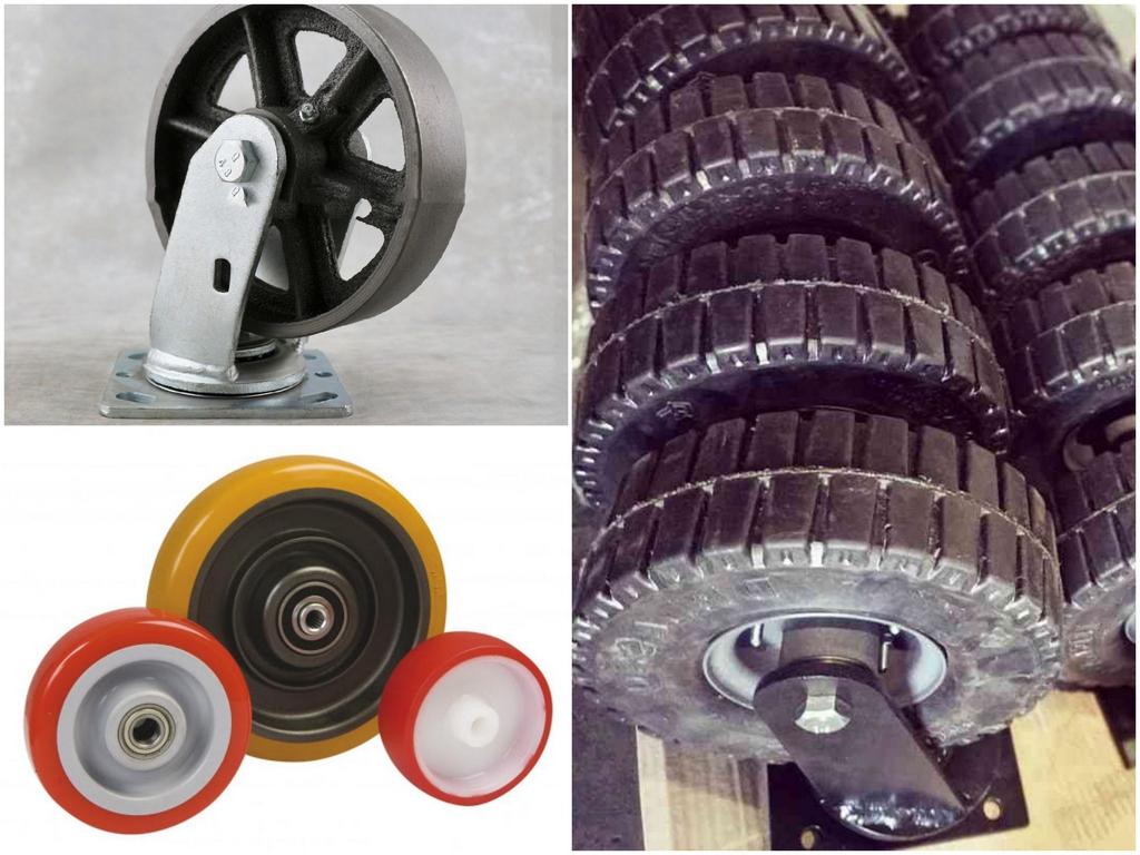 Виды крепления колес для тележек
