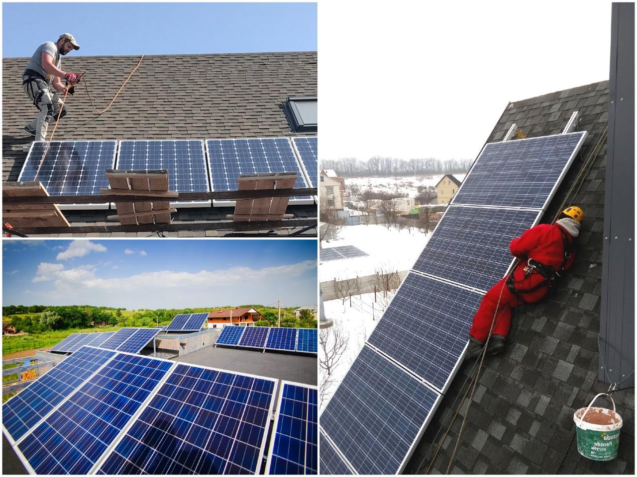 Этапы монтажа солнечных панелей