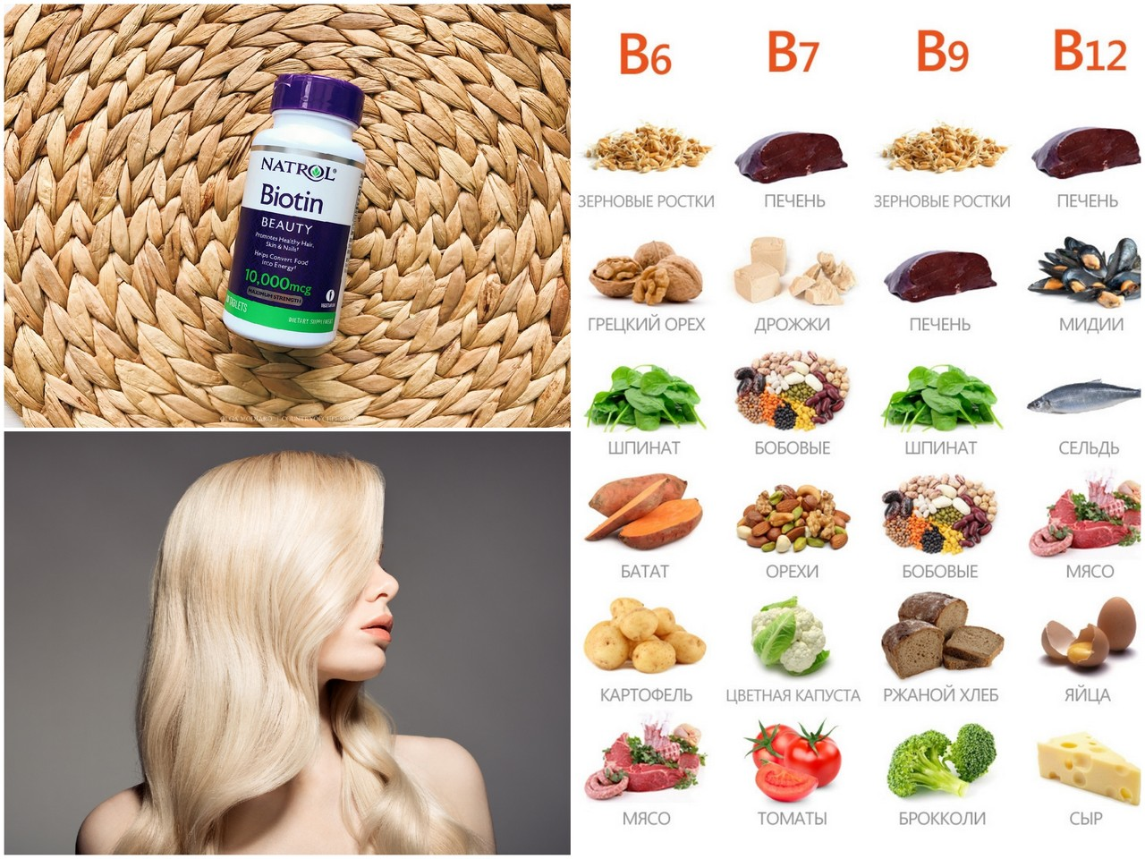 Преимущества витамина В7 (биотин)