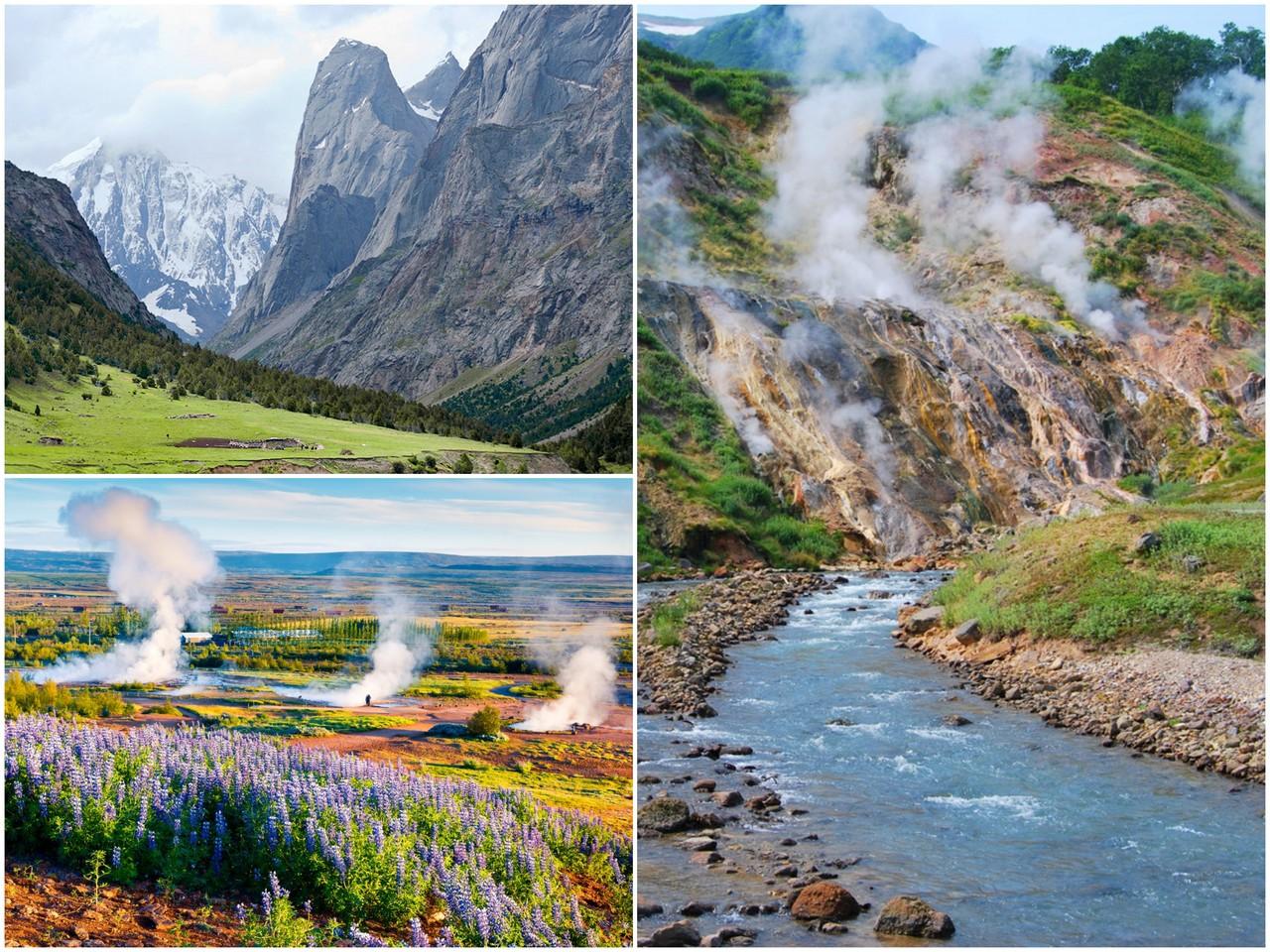 Ущелья и горячие источники Киргизии