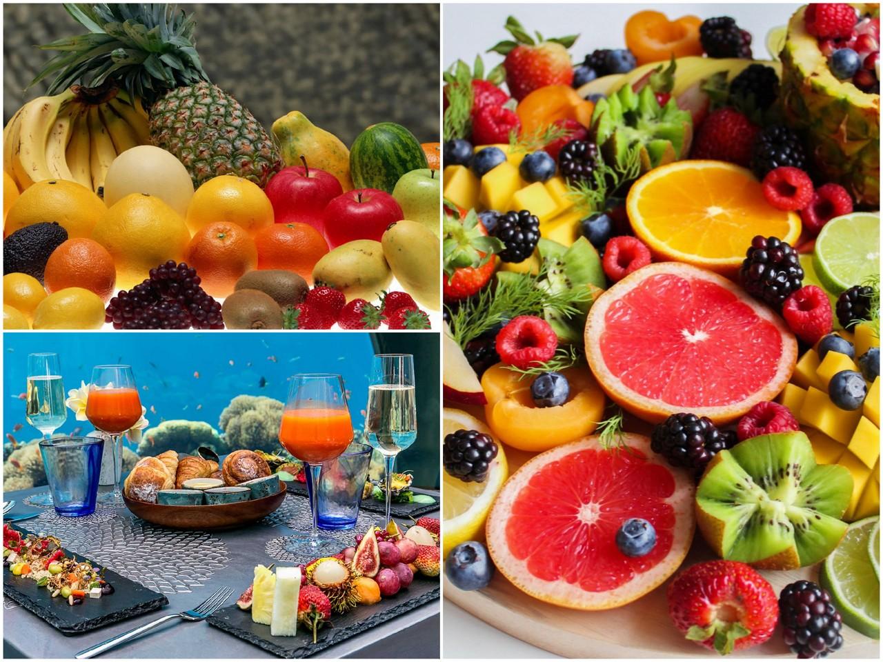 Экзотические фрукты на новогоднем столе