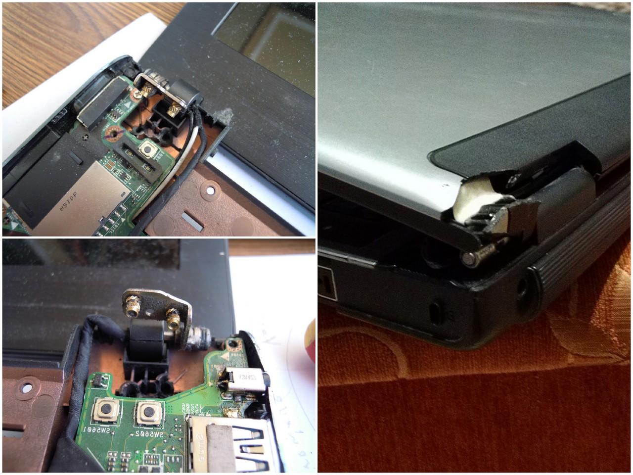 Как делают ремонт крышки ноутбука
