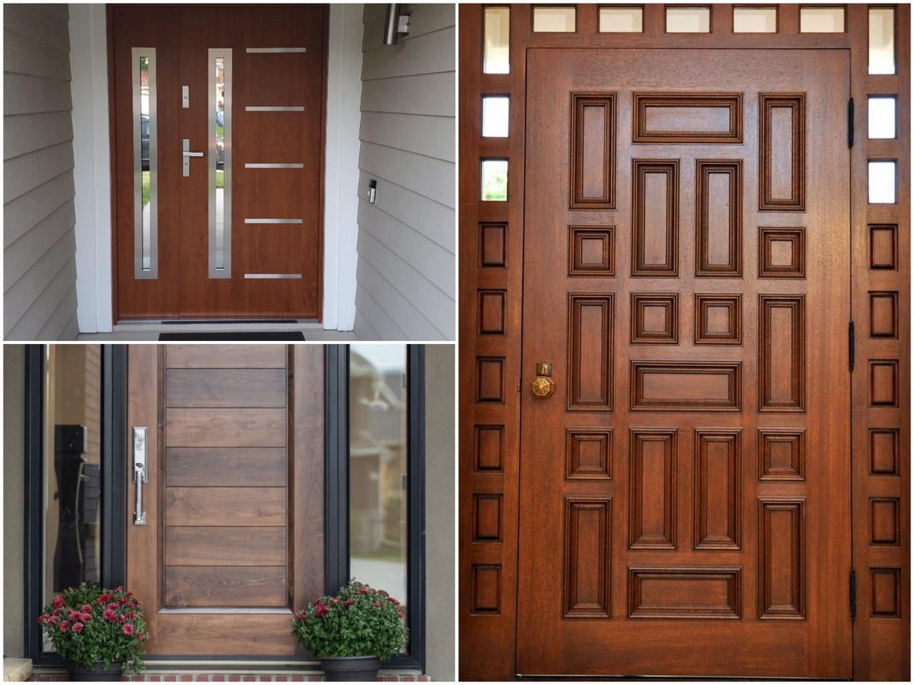 Особенности и преимущества входных дверей из сосны