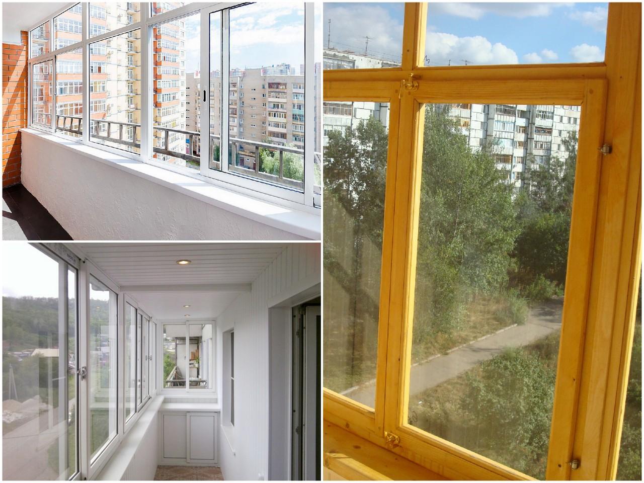 Виды остекления балконов по материалу изготовления