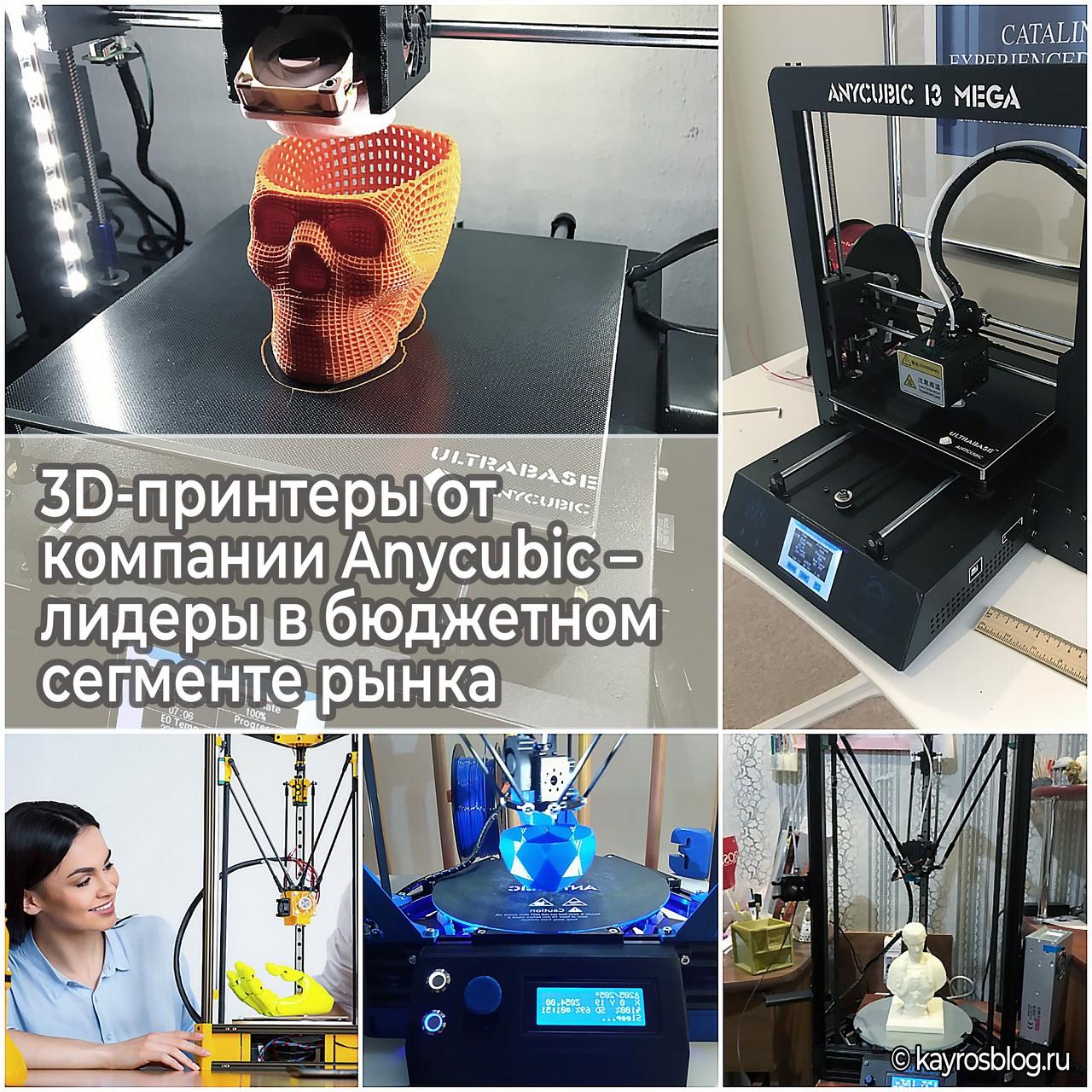 3D-принтеры от компании Anycubic – лидеры в бюджетном сегменте рынка