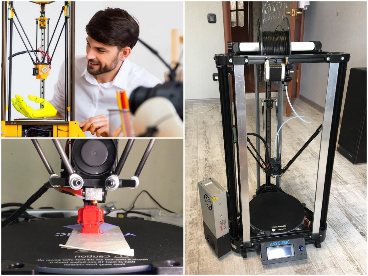 Обзор 3D-принтера Anycubic Kossel Plus
