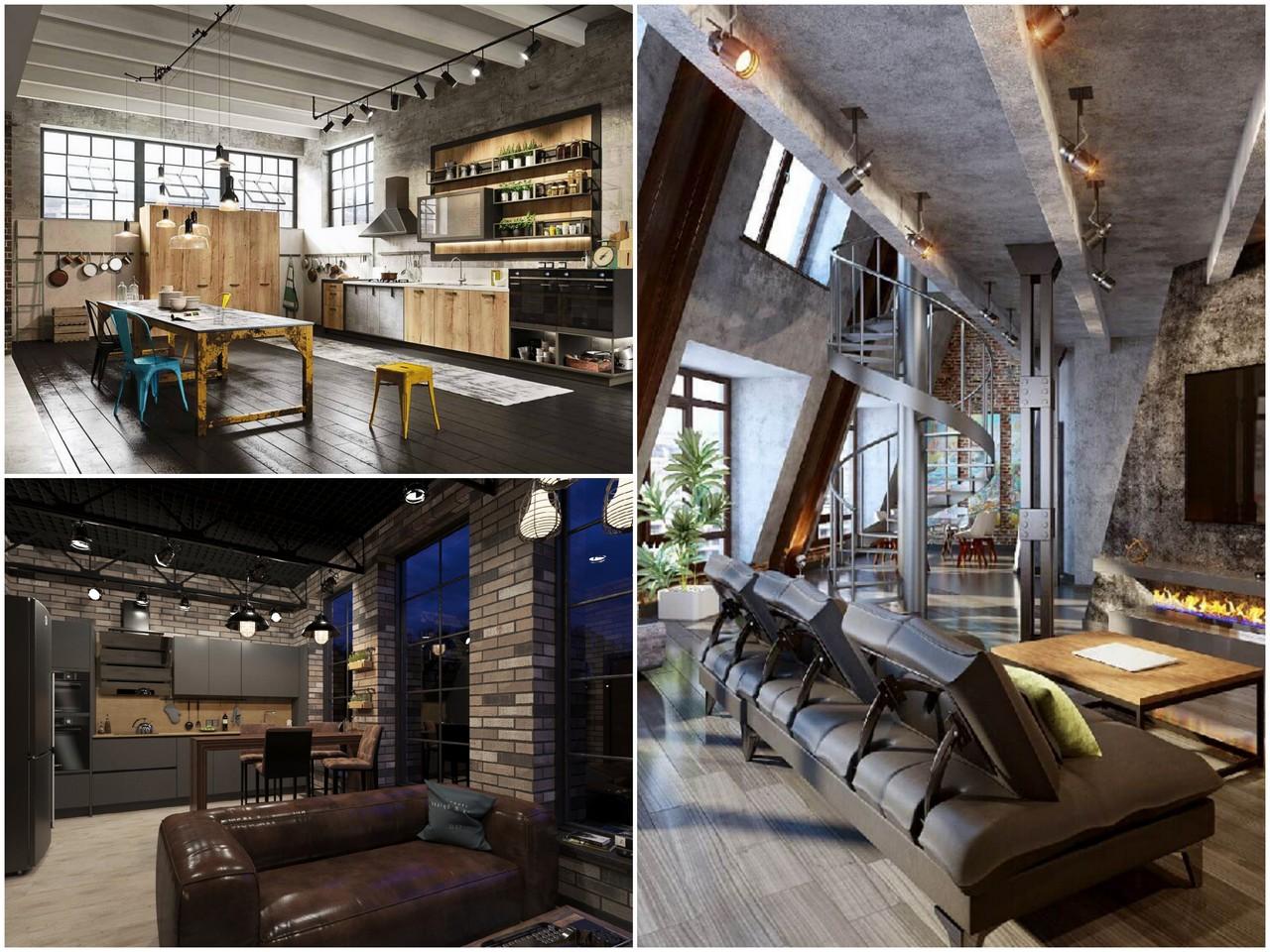 Преимущества интерьера кухни в стиле Loft