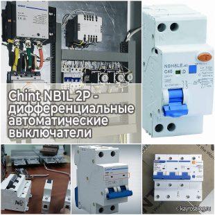 Chint NB1L 2P - дифференциальные автоматические выключатели