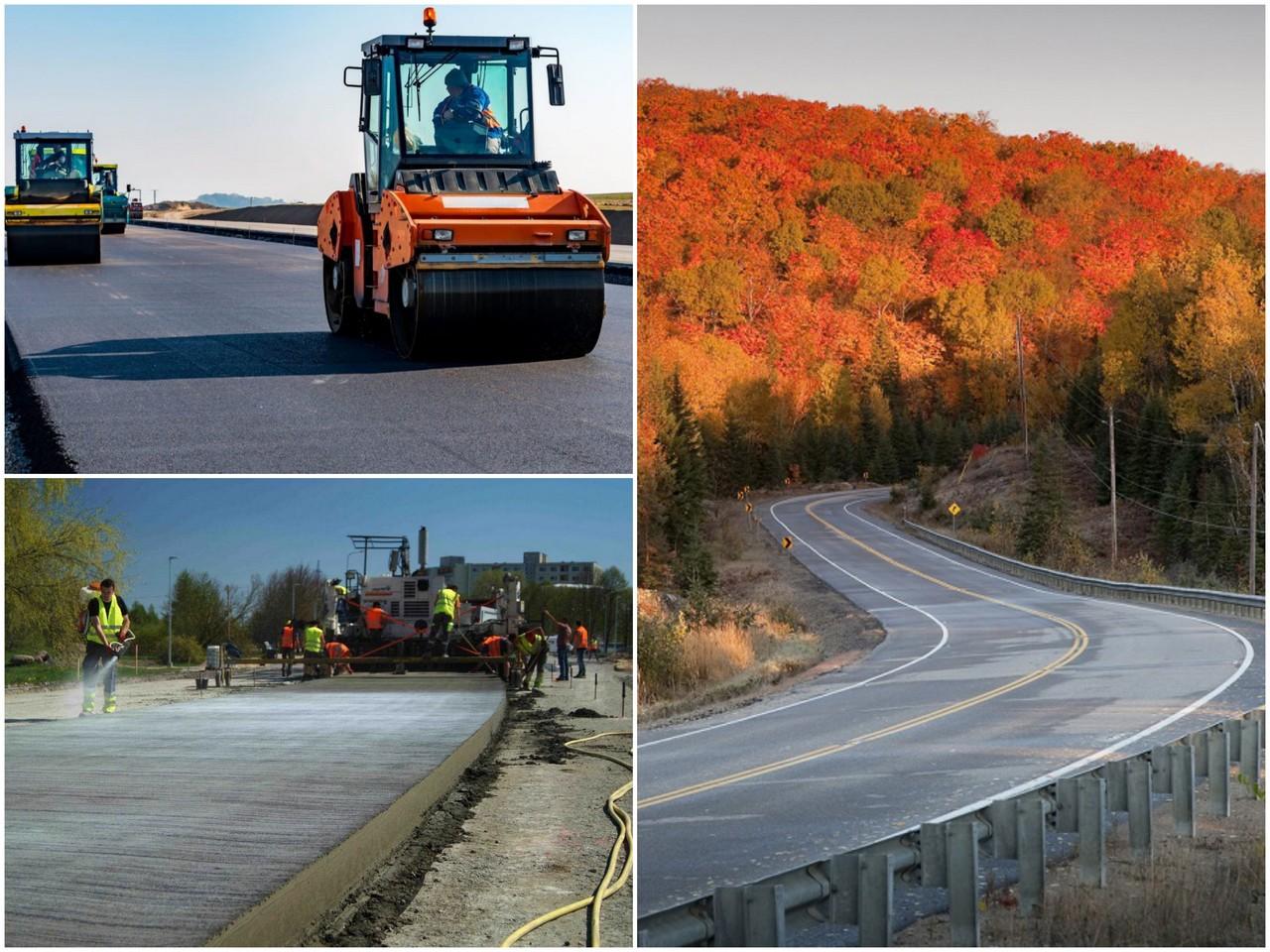 Как проводят строительство автомобильных дорог