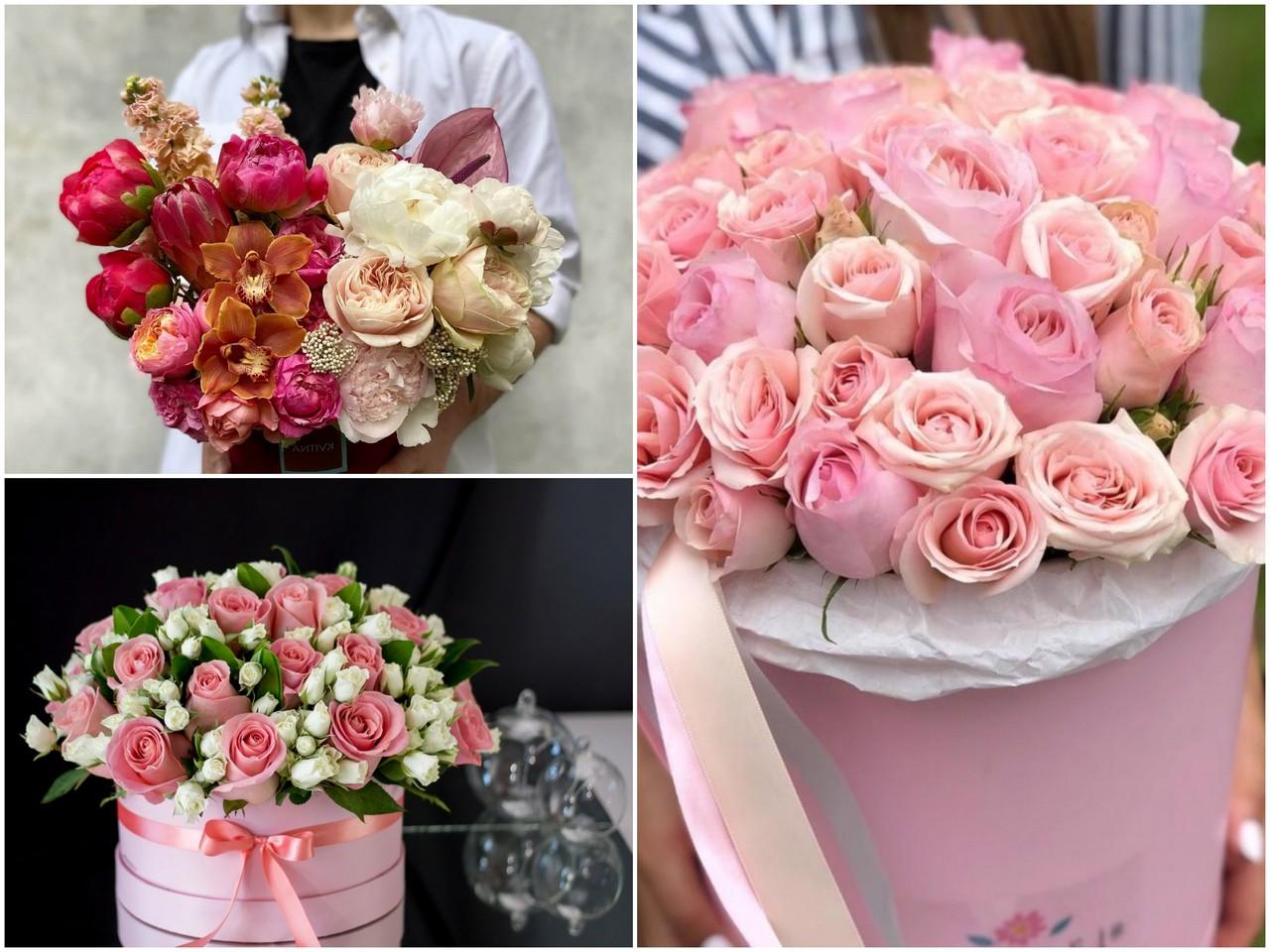 Цветы в шляпной коробке - особенности подарка