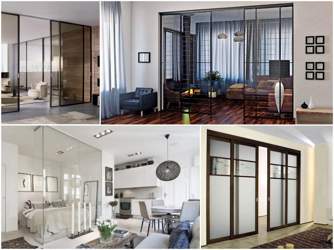 Как используются стеклянные перегородки в дизайне интерьеров