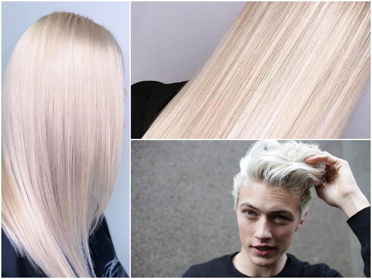 Полное обесцвечивание волос