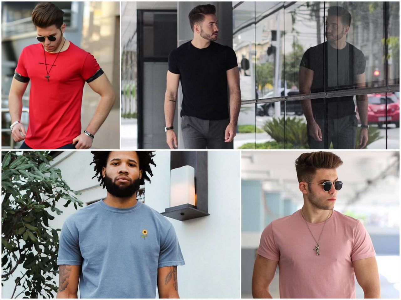 Материал и фасон футболки для мужчины