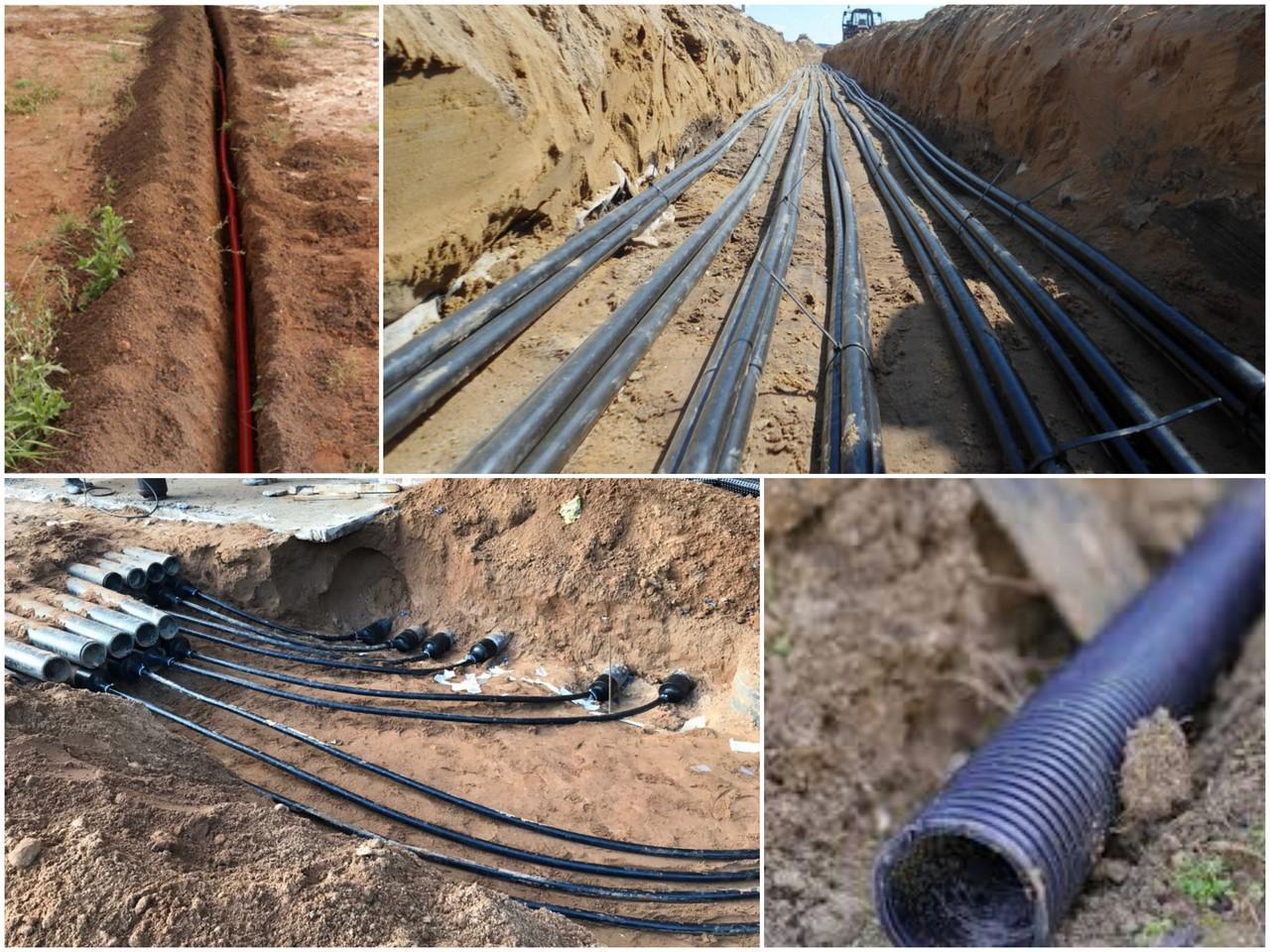 Особенности рытья траншеи и этапы прокладки кабеля в грунте