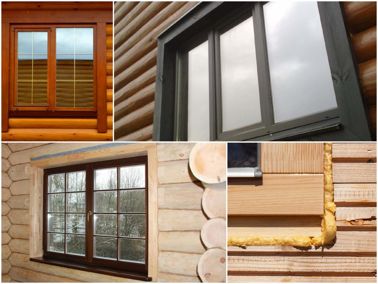 Как установить окна ПВХ в деревянном доме
