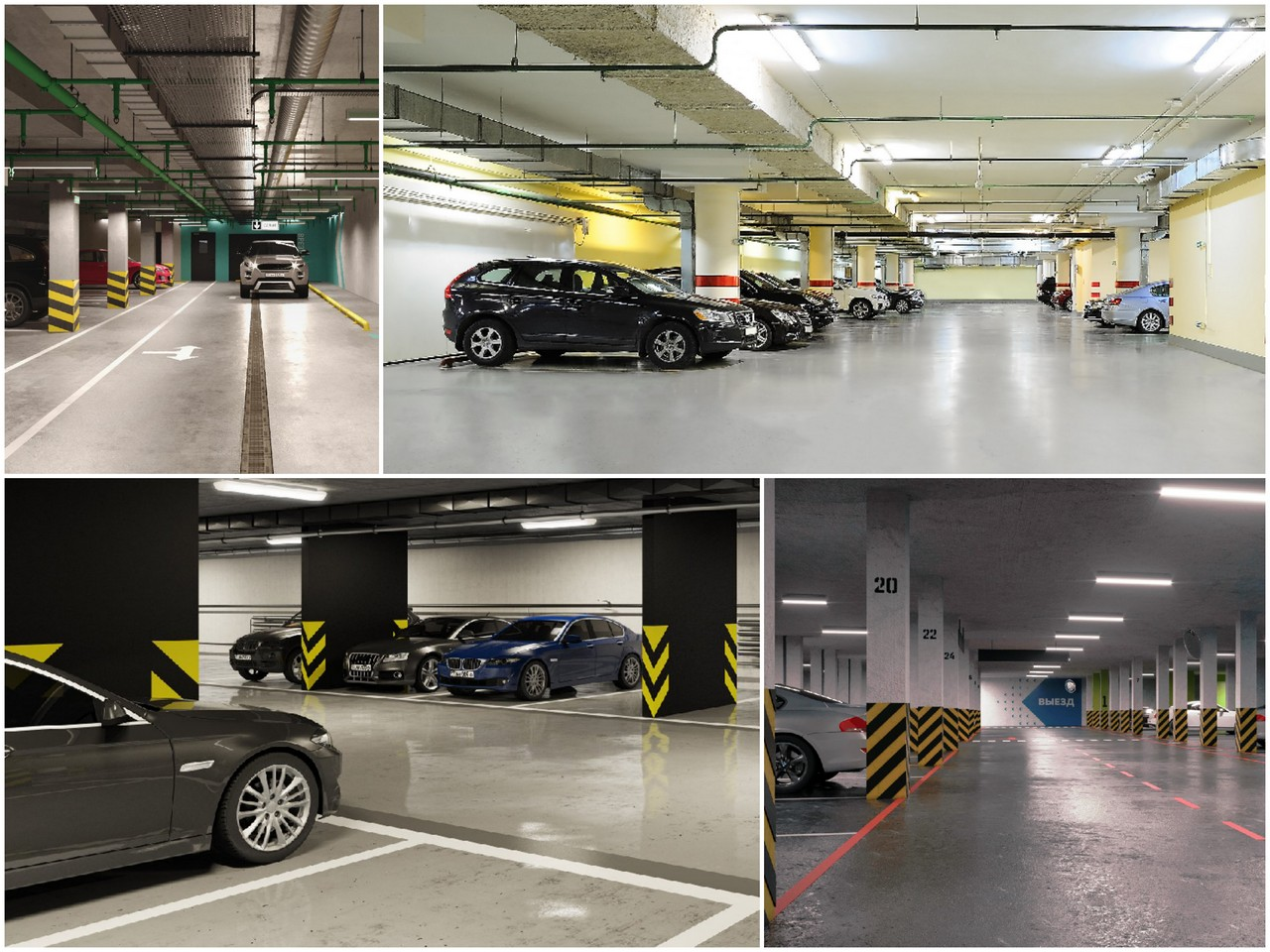 Подземный вариант парковочного пространства