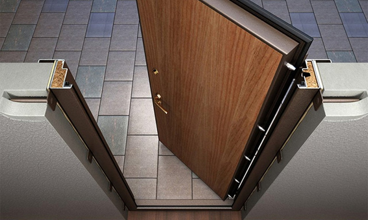 Входная дверь должна быть максимально прочной