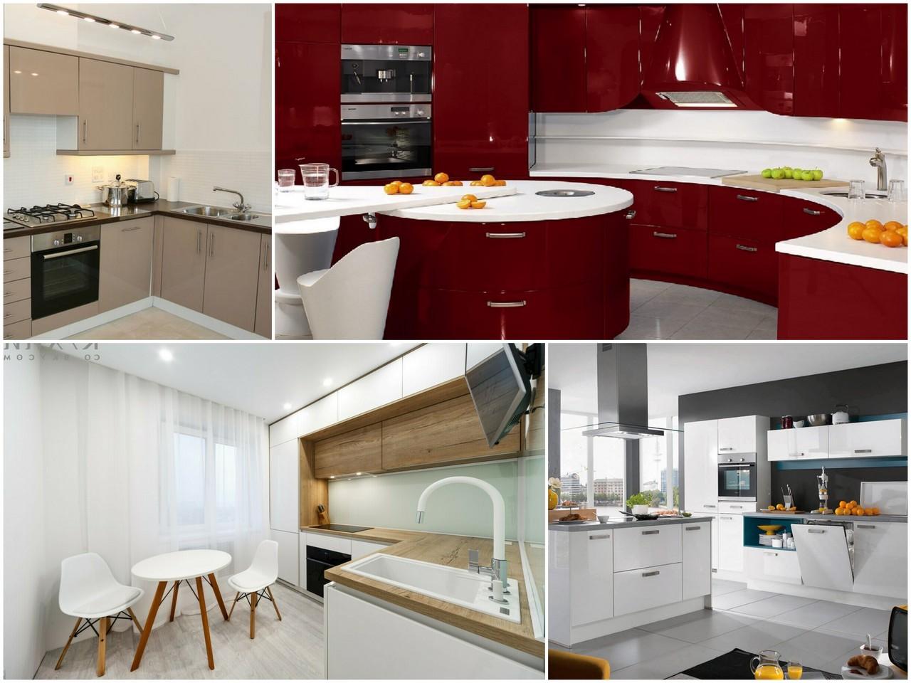 Акриловые кухни в рамках современного интерьера