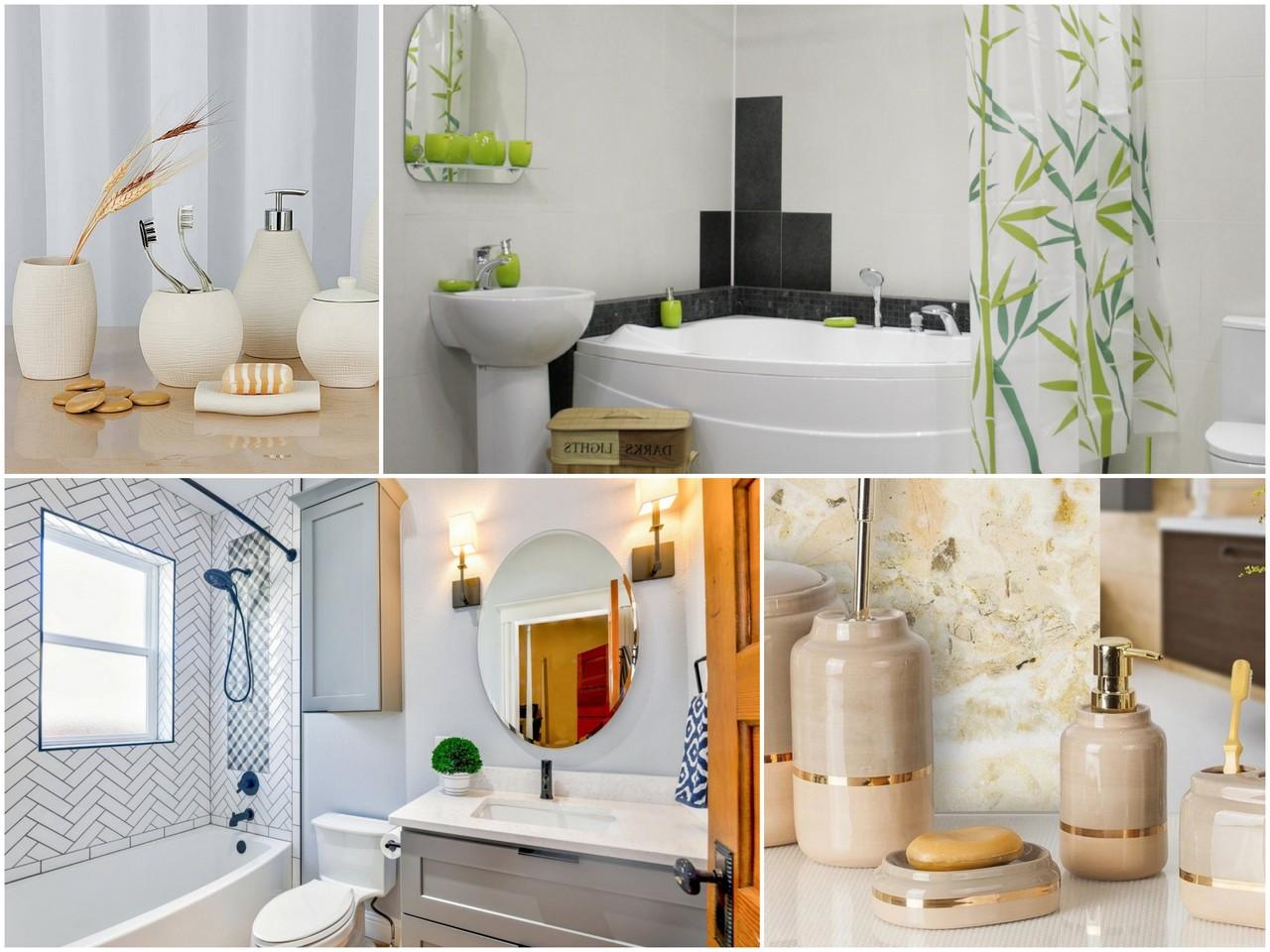 Аксессуары для ванной комнаты должны сочетаться с декором