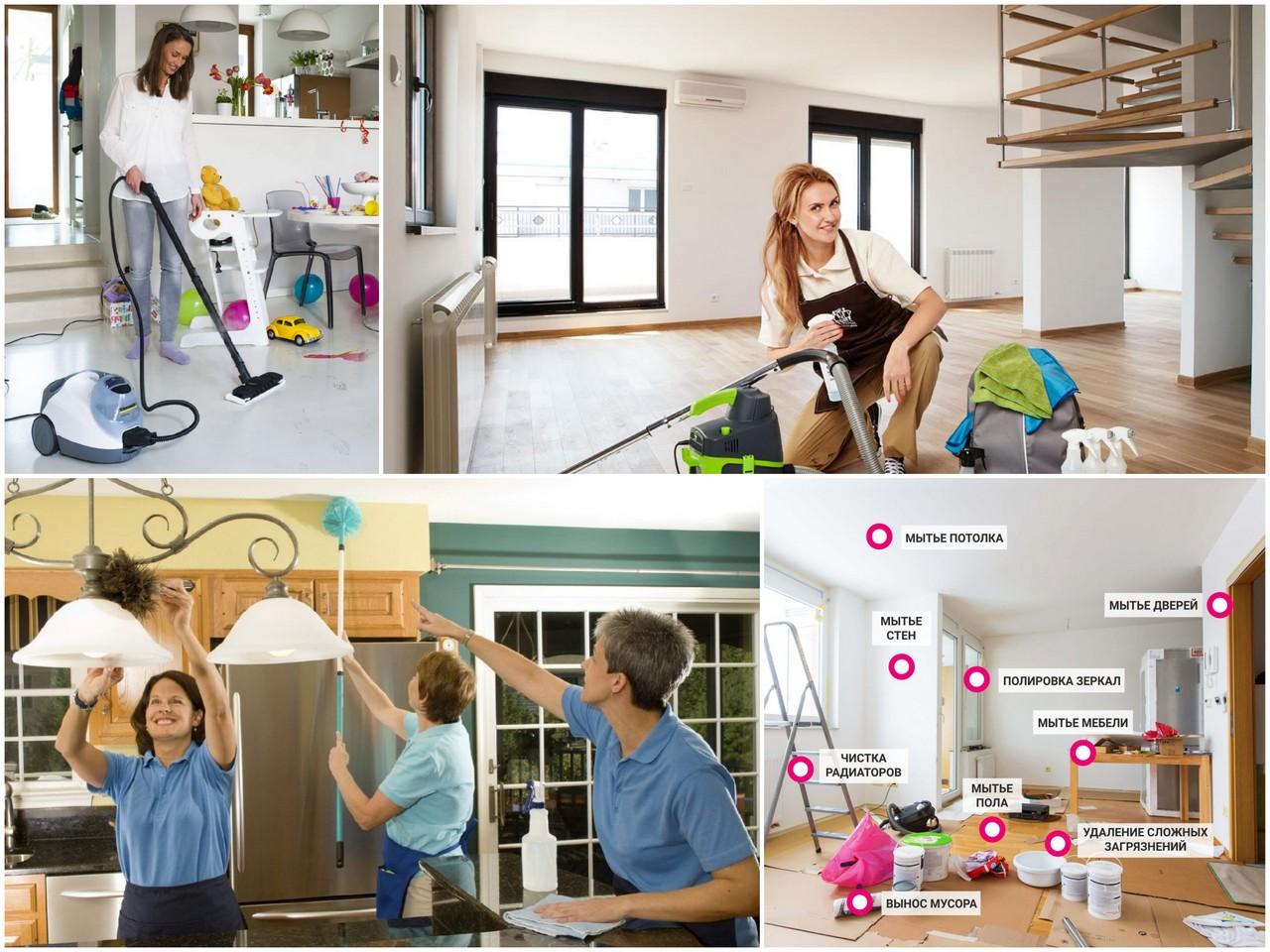 уборка квартиры без последовательности и организованности