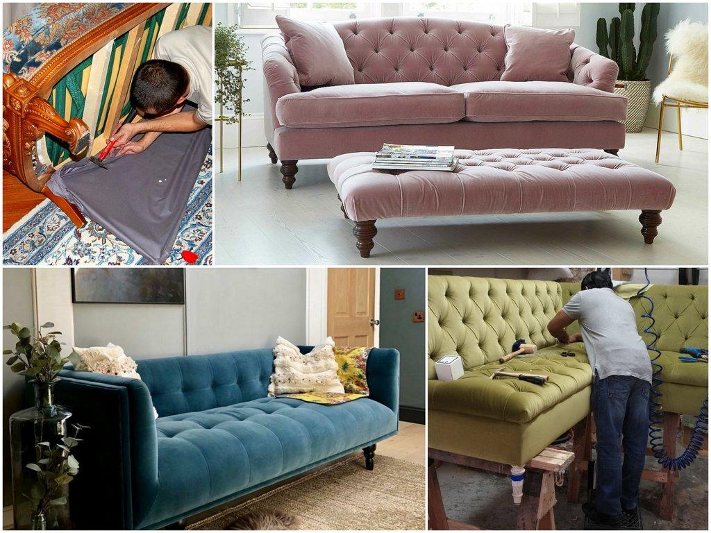 Чем лучше выполнить перетяжку мебели