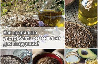Как правильно употреблять семена льна для похудения