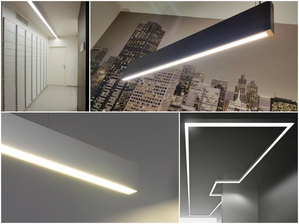 Какие функции могут выполнять профильные светодиодные люстры