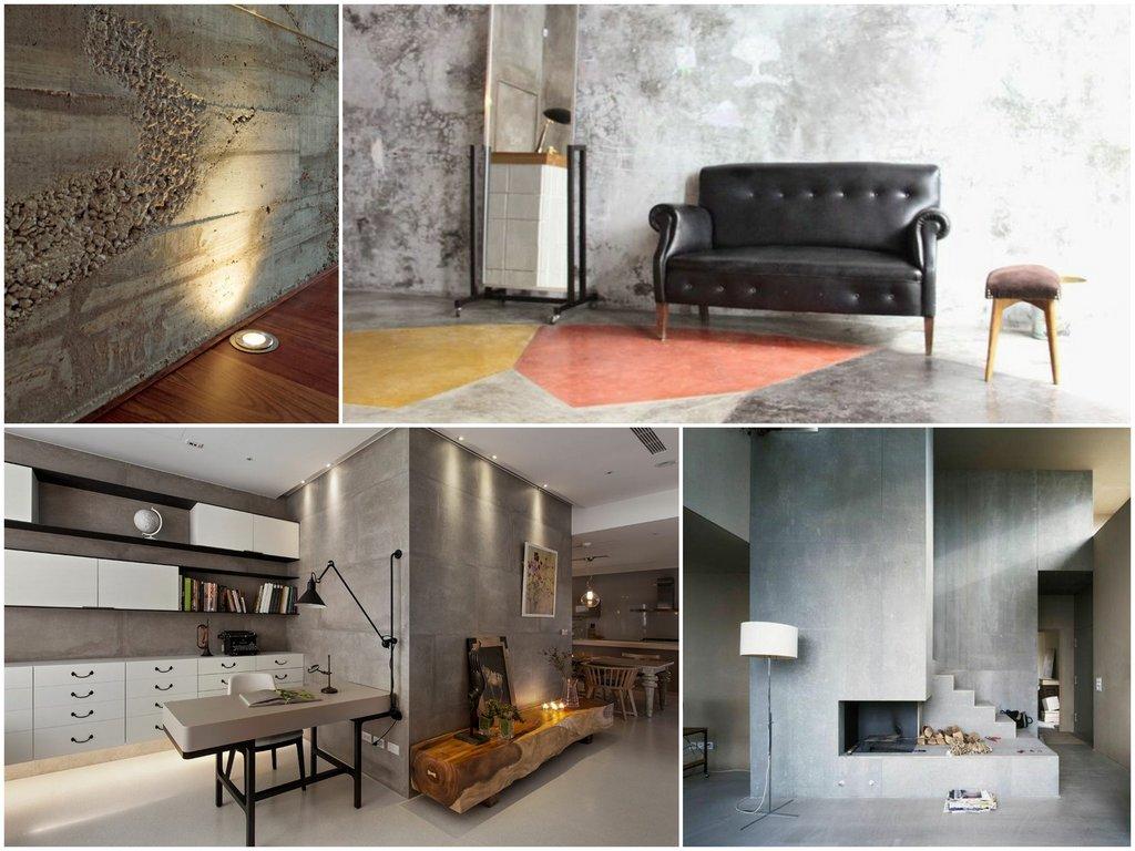 Архитектурный бетон в отделке квартир