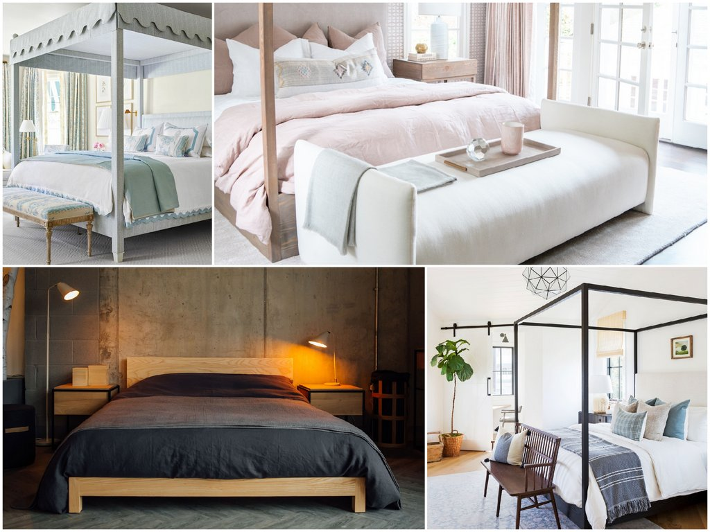 Как поставить кровать в интерьере спальной комнаты