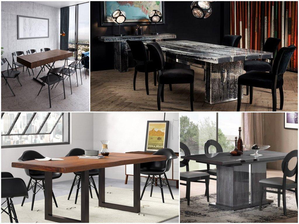 Выбираем обеденный стол по материалу столешницы