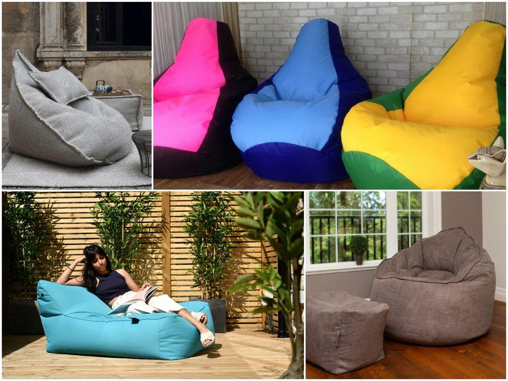 Кресло-мешок - история бескаркасной мебели