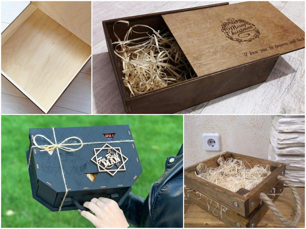 Плюсы деревянных коробок, как упаковки