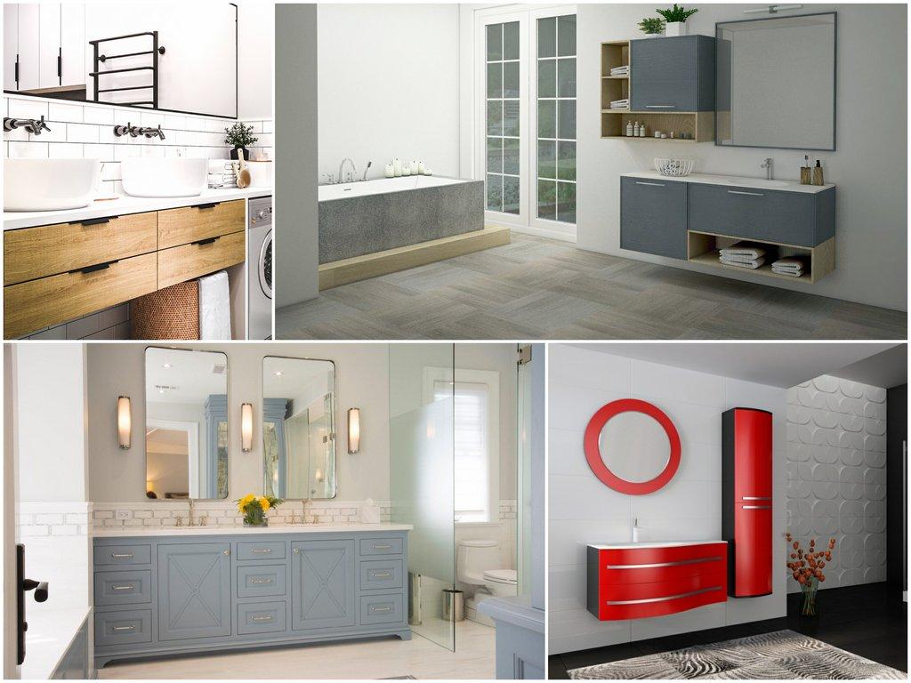 Как правильно установить мебель в ванную комнату