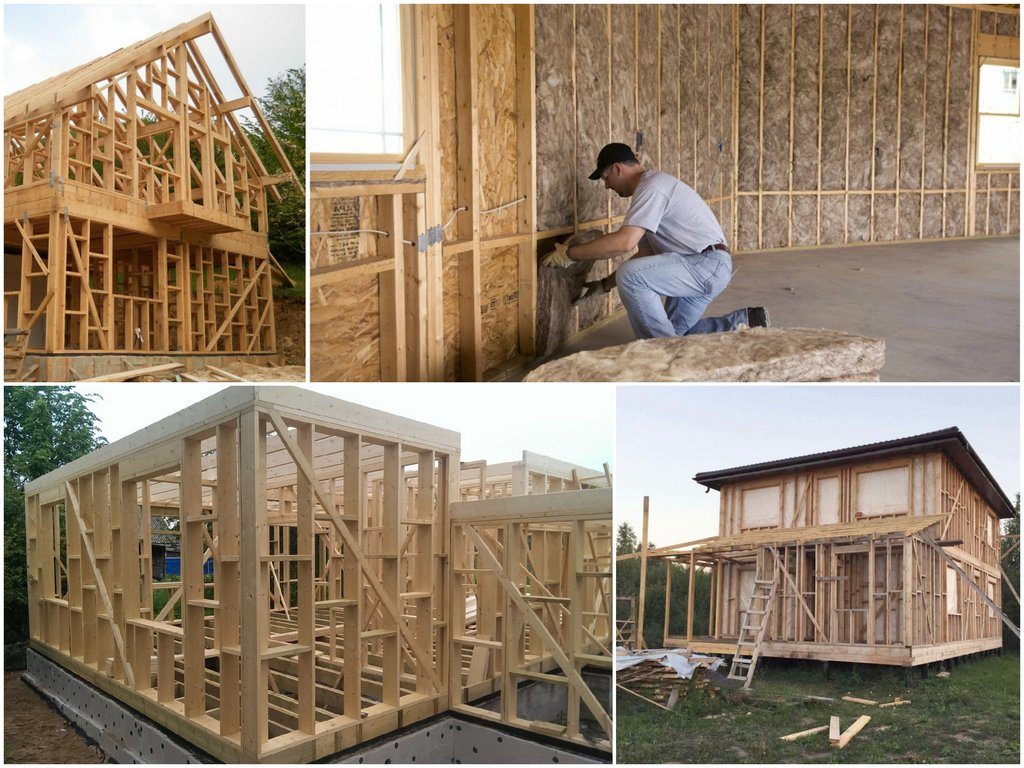 Принцип каркасного строительства