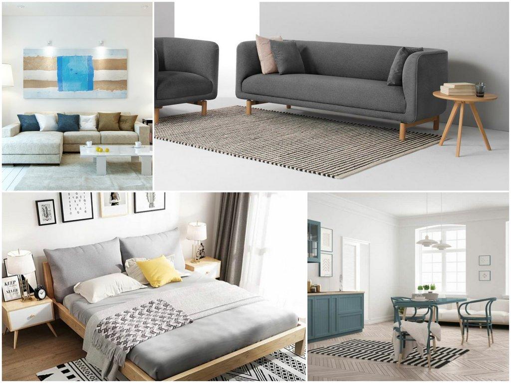 Элементы мебели в скандинавском стиле