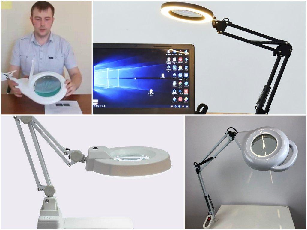 Конструкция бестеневой лампы с увеличительной лупой