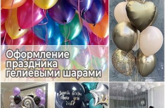 Оформление праздника гелиевыми шарами