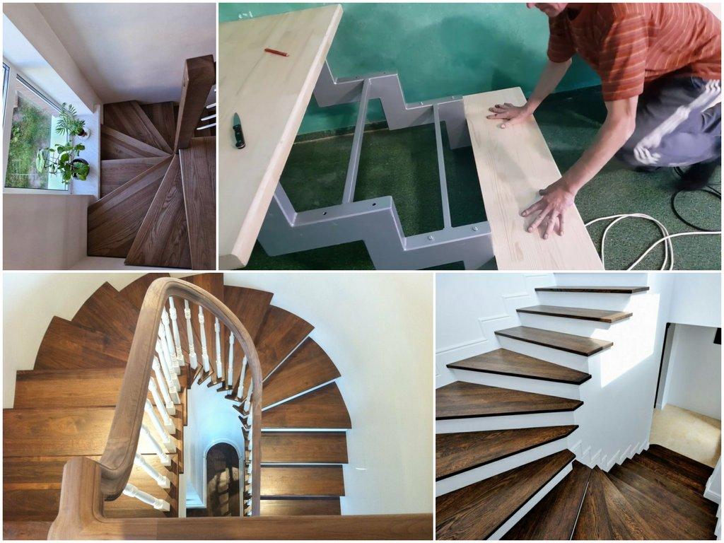 Как украшается поворотная лестница
