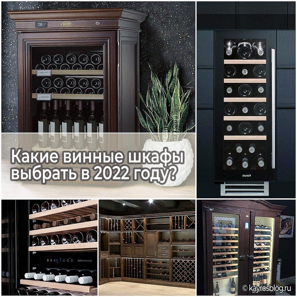Какие винные шкафы выбрать в 2022 году
