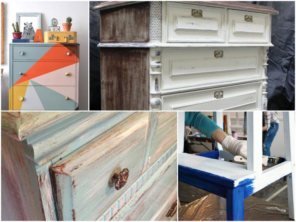 Выбор краски для окрашивания мебели