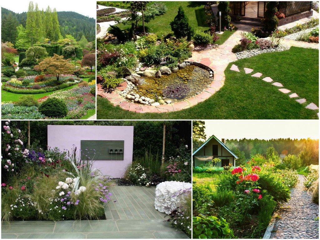 В каком стиле оформить сад